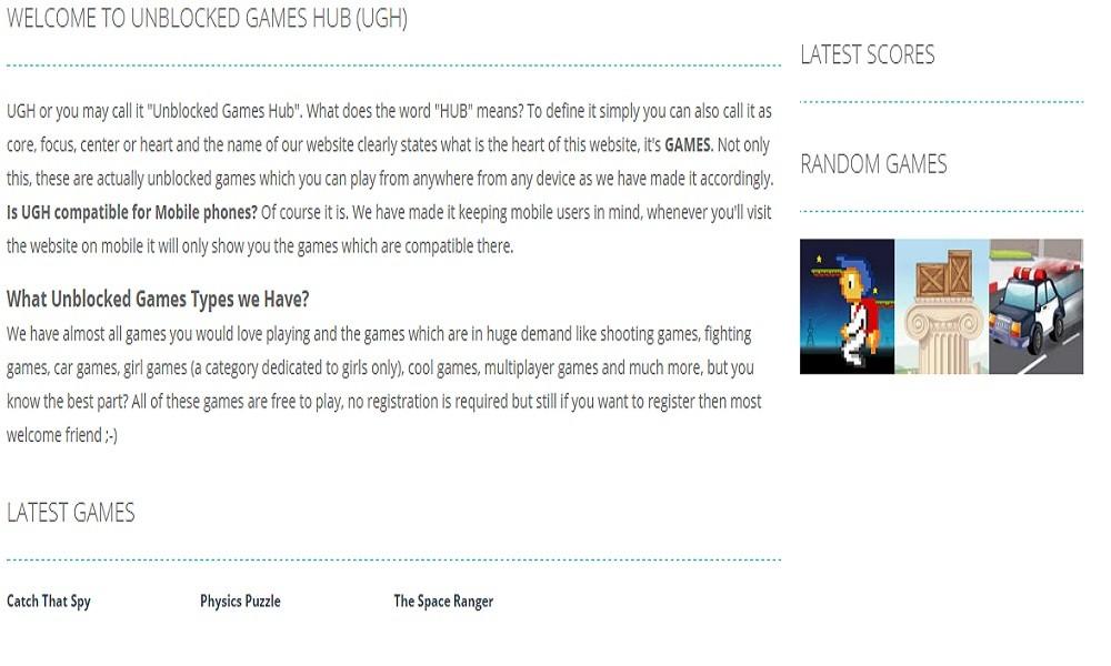 Unblocked Games Hub