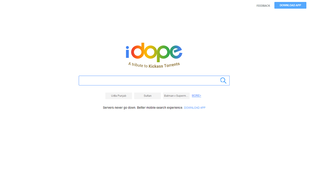 iDope - Torrent Search Engine