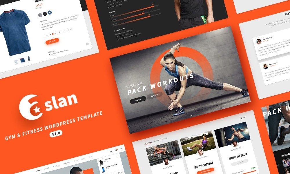 Aslan - Responsive Gym & Fitness WordPress Theme