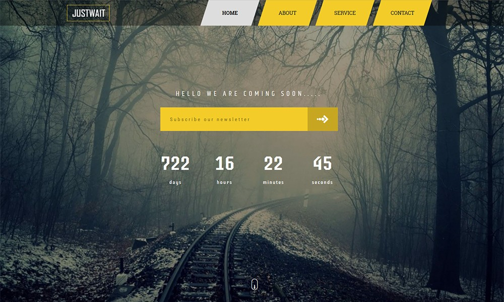 JUSTWAIT - HTML5 Coming Soon Template