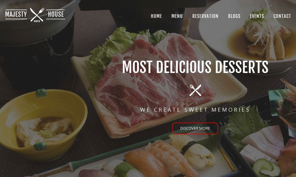Majesty Multi-Cuisine Restaurants Template