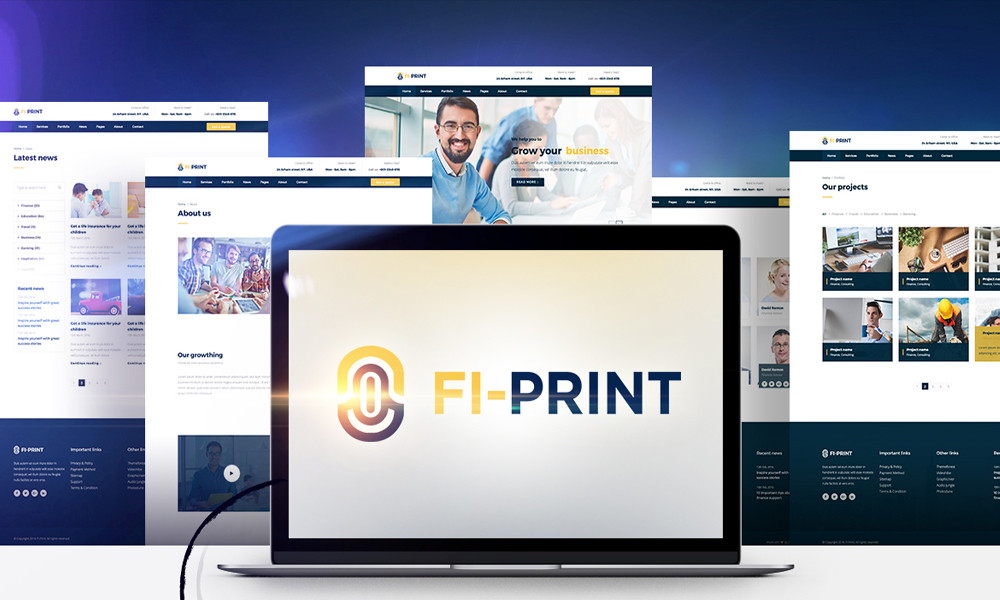 Fi-Print Corporate WordPress Theme