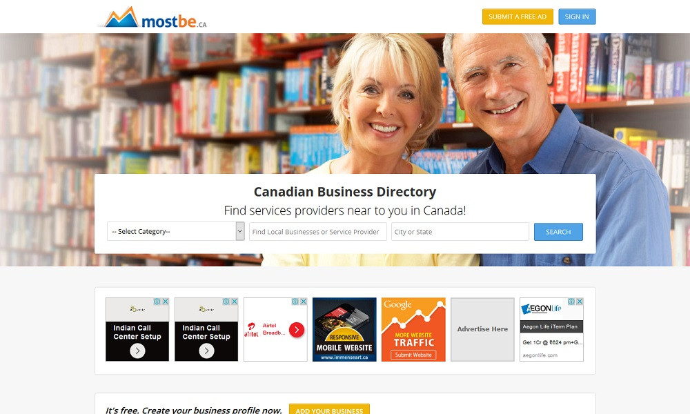 Free Business Directory Canada