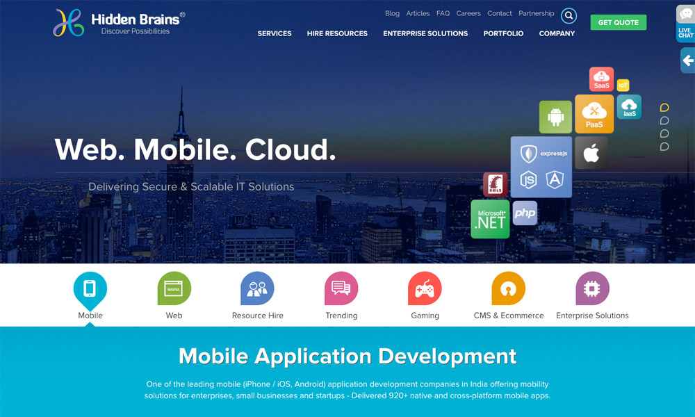 Hidden Brains - Mobile App Development