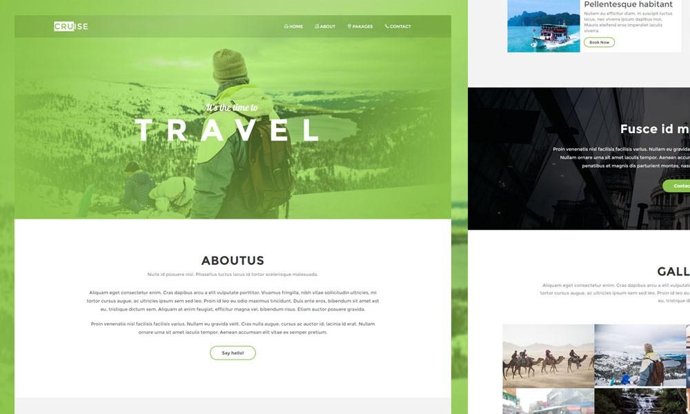 Cruise tourism landing page