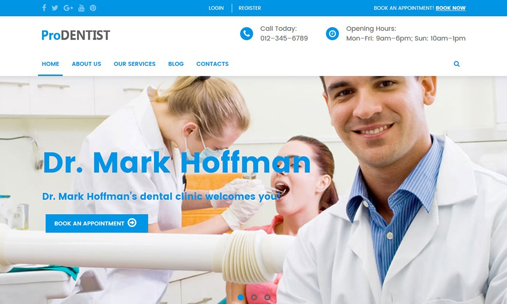 Dentist Medical WordPress Theme