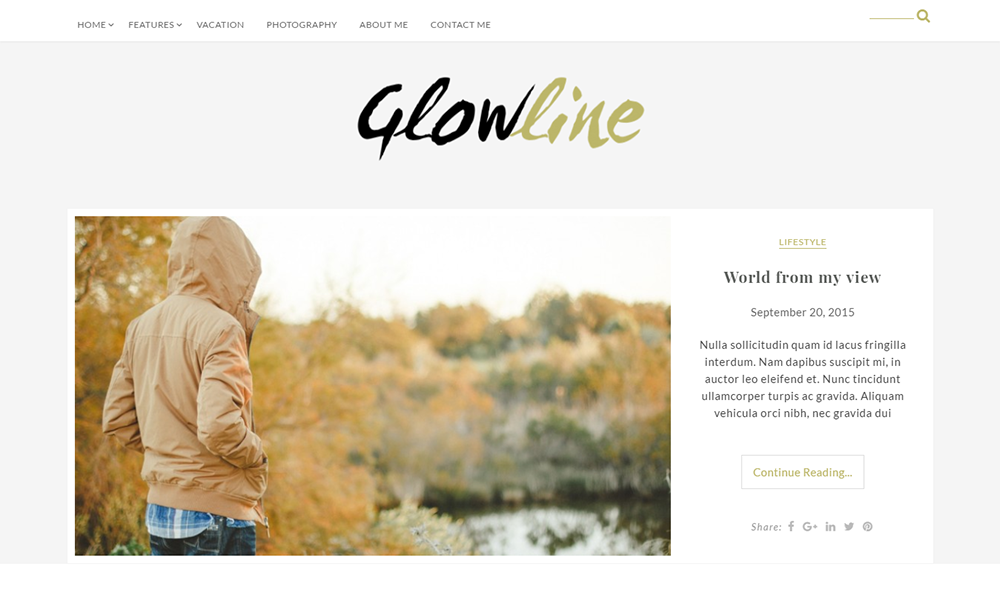 GlowLine Lite- Free Blogging Theme