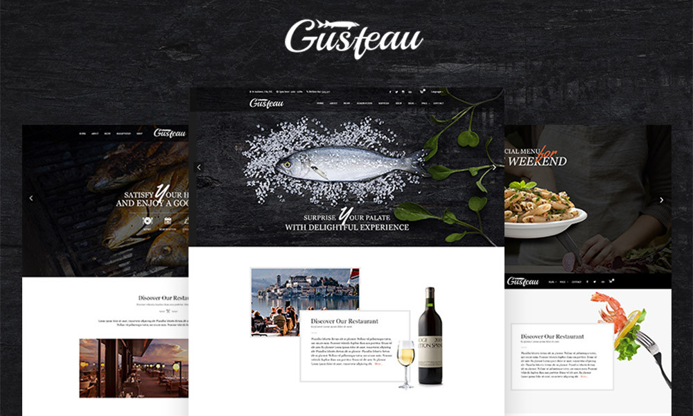 Gusteau Coffee and Restaurant WordPress Theme