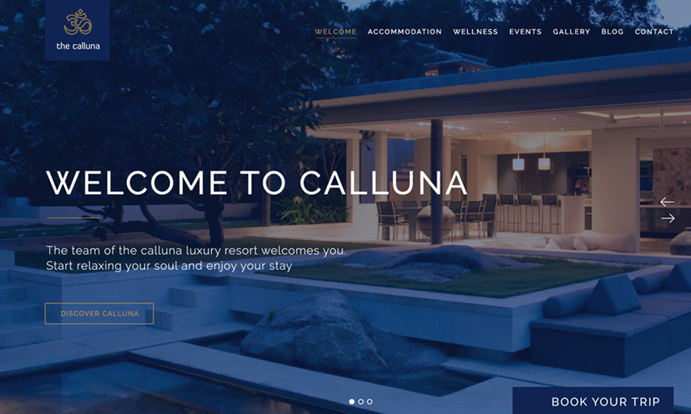 Hotel Calluna - Hotel & Resort & WordPress Theme