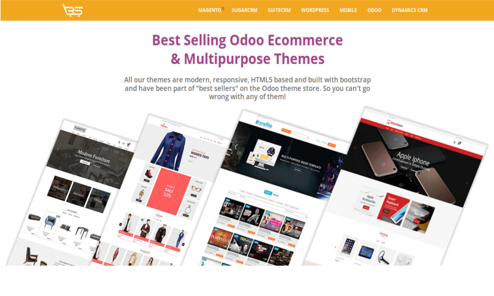 HTML5 Odoo E-Commerce & Multipurpose Themes