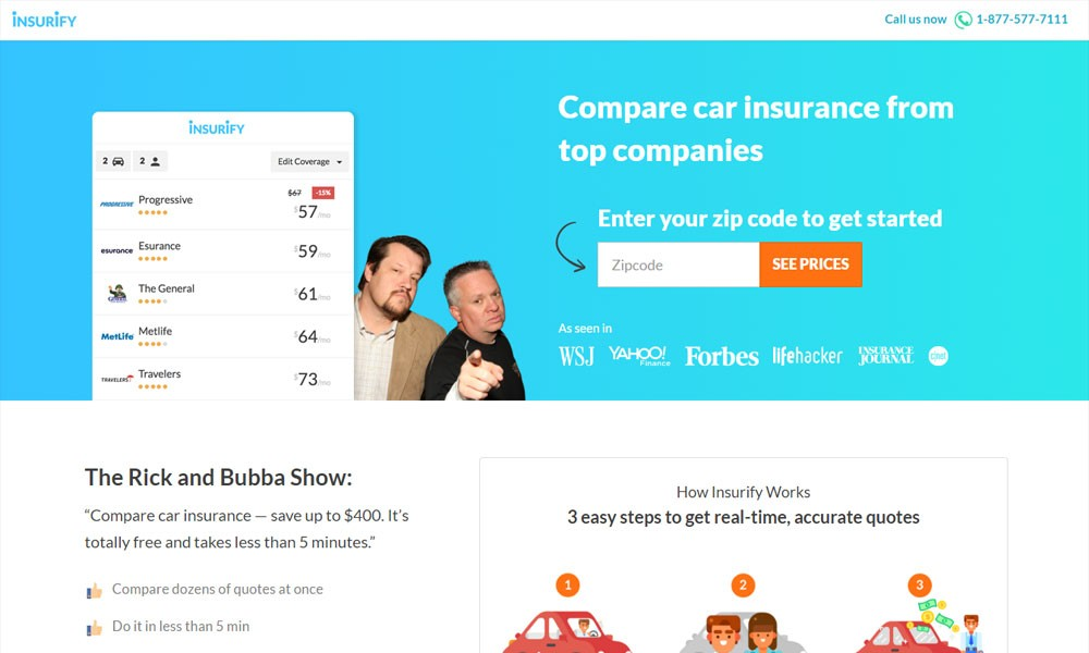 Insurify - compare car insurance fast and easy