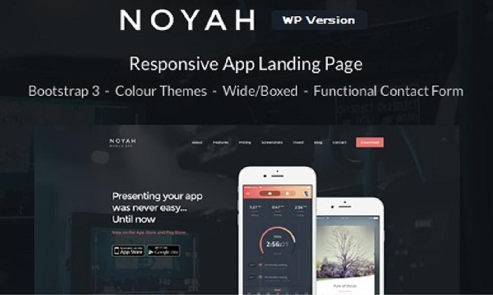 Noyah - App Landing WordPress Theme