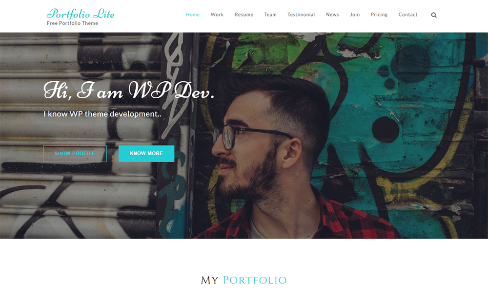 PortfoiloLite- Multipurpose Showcase Theme
