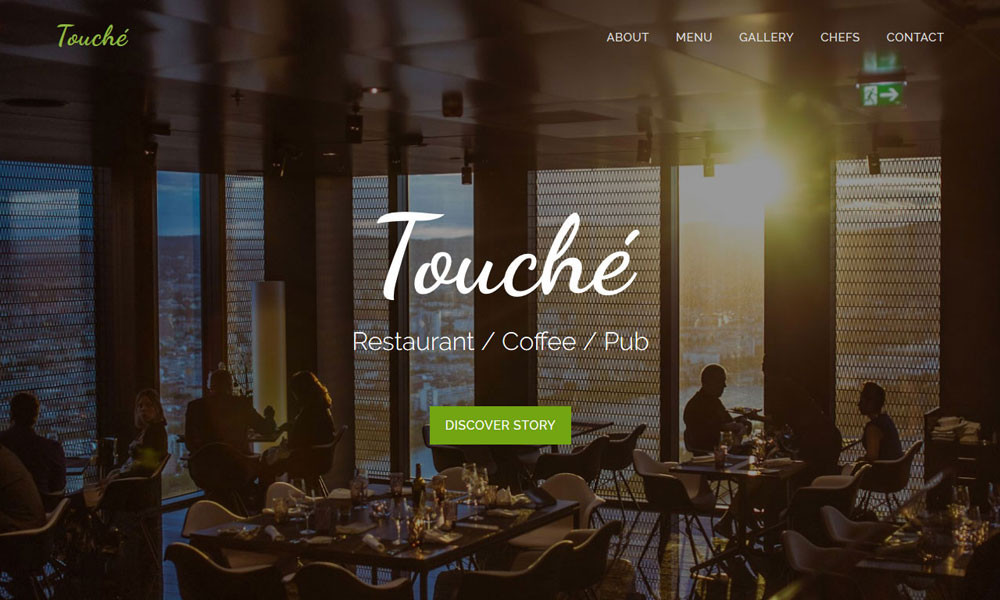 Touche - Free Restaurant Bootstrap Template