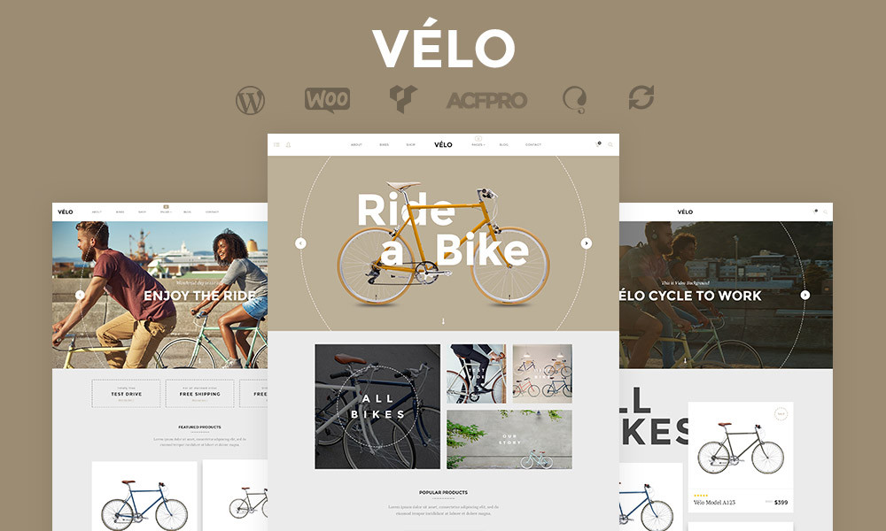 Velo Bike Store Responsive Business Theme