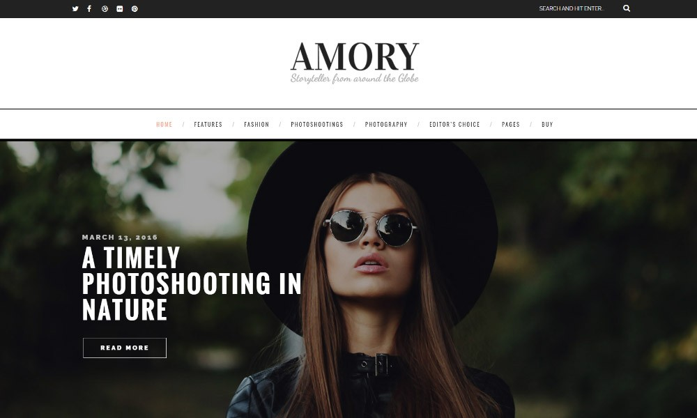 Amory WordPress Blog
