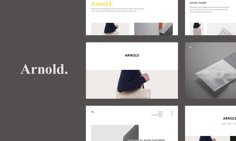 Minimalist WordPress - Arnold.