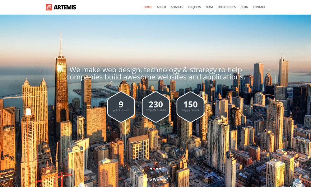 Artemis Responsive One Page Parallax WordPress Theme