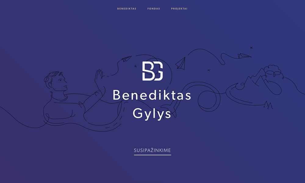 Benediktas Personal Website
