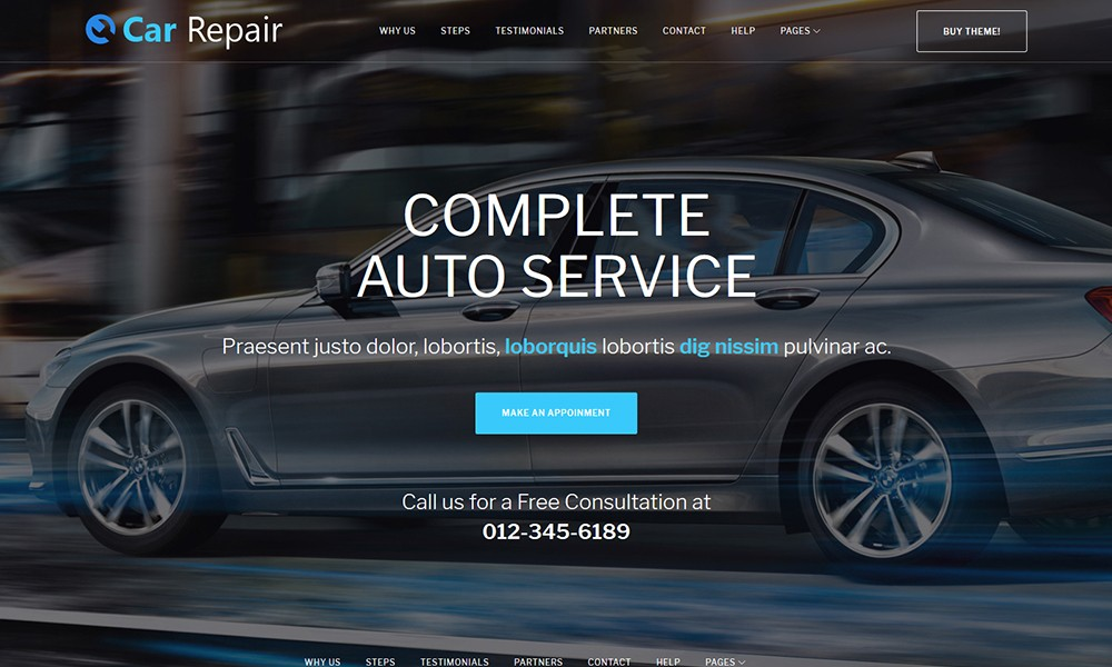 Car Repair - Auto Repair Wordpress Theme