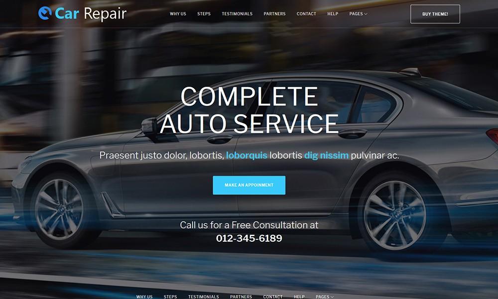 Car Repair - Auto Repair Wordpress Theme