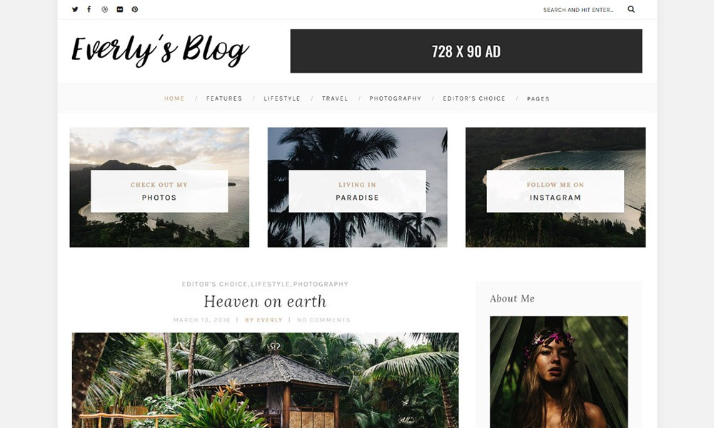 Everly Lite: Free WordPress Blog Theme