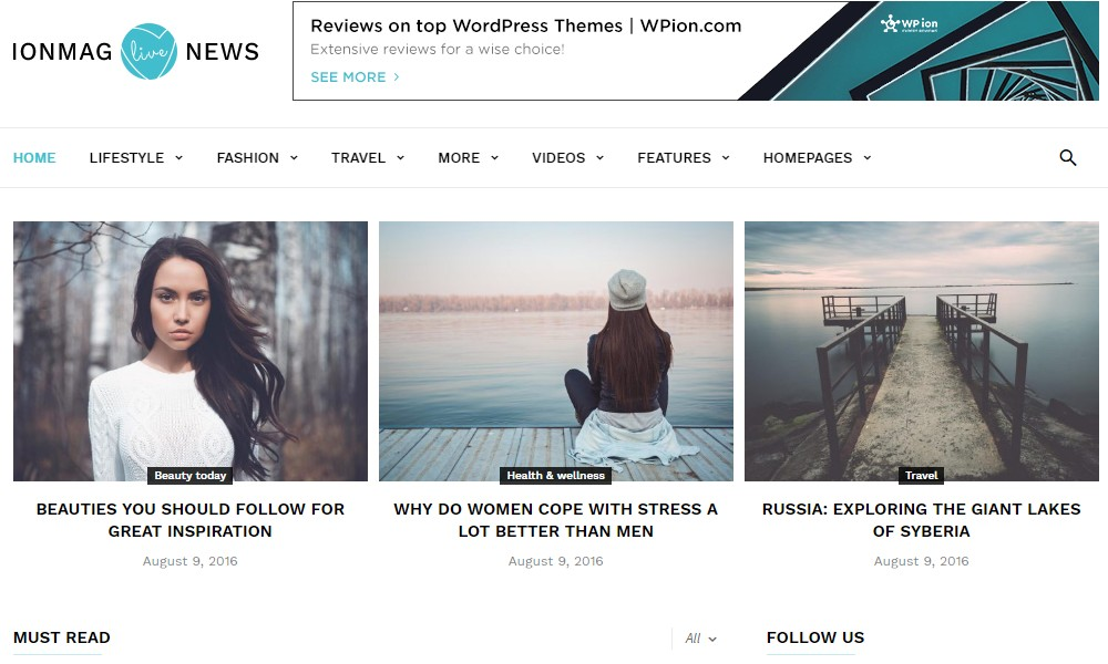 ionMag Free News WordPress Theme