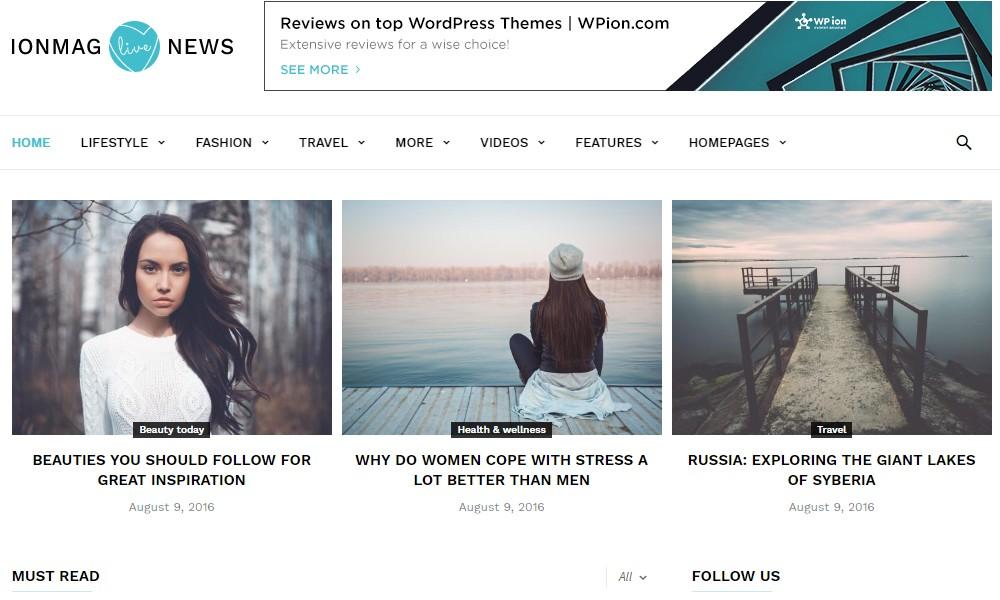ionMag Free News WordPress Theme