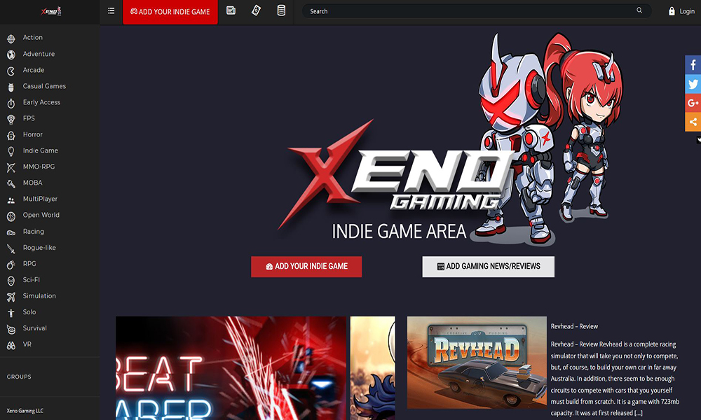 Xeno Gaming - Indie Game Area