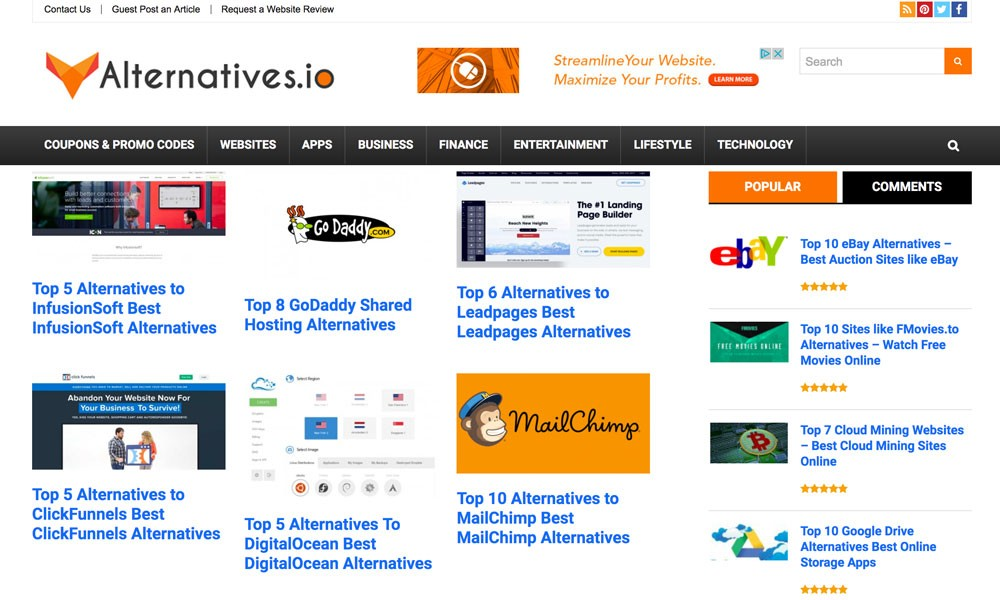 Alternatives.io
