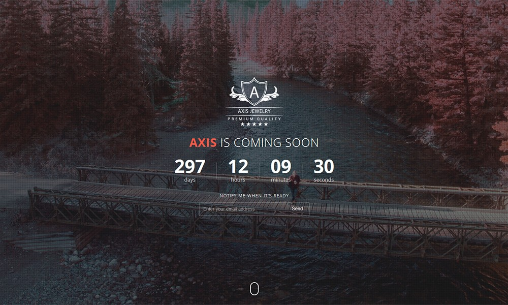 Axis - Responsive Coming Soon Template