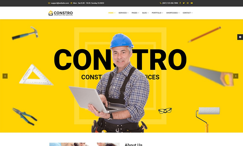 Constro - Construction Business HTML5 Template