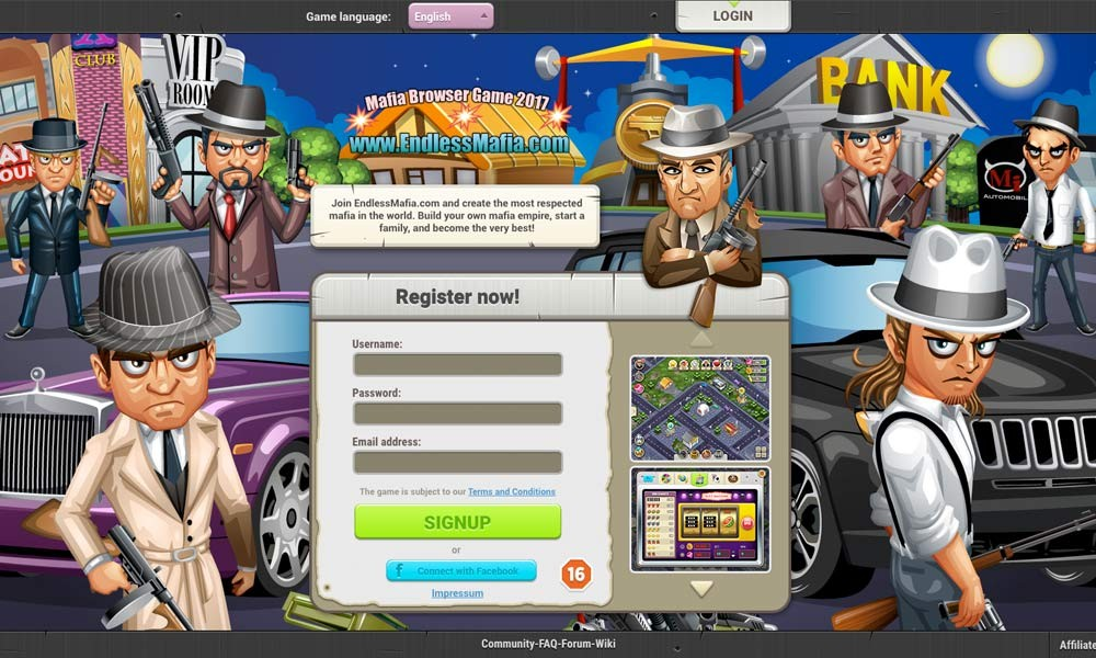 EndlessMafia Browser Game