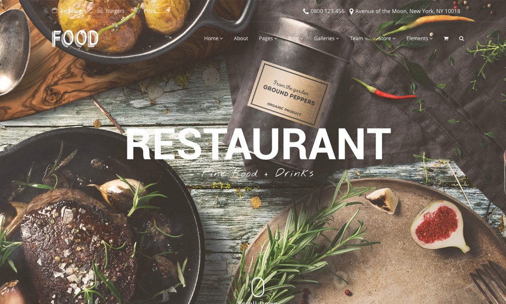 Food WordPress Theme - Restaurant, Pub & Bar Template