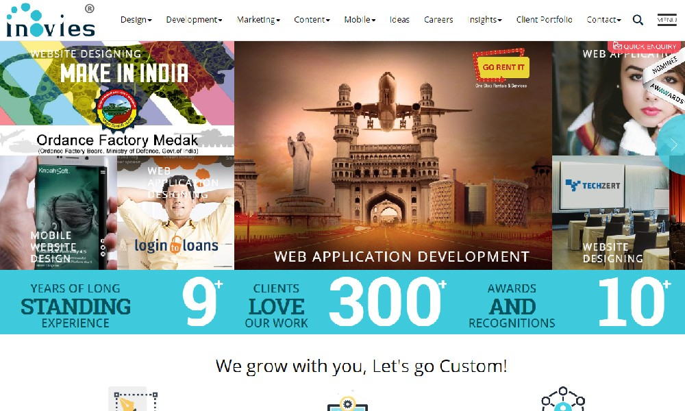 inovies web designing company in hyderabad india