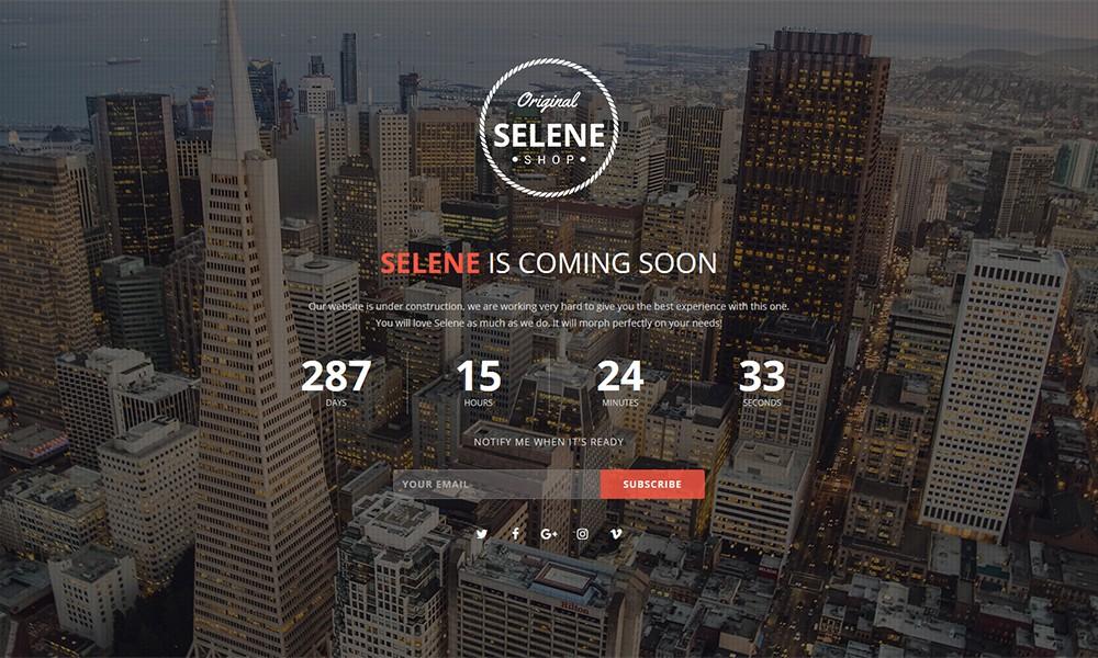 Selene - Responsive Coming Soon WordPress Plugin
