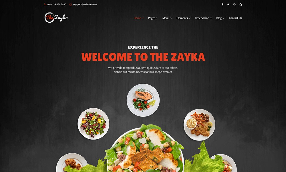The Zayka - Multipurpose Restaurant, Food & Cafe HTML5 Template