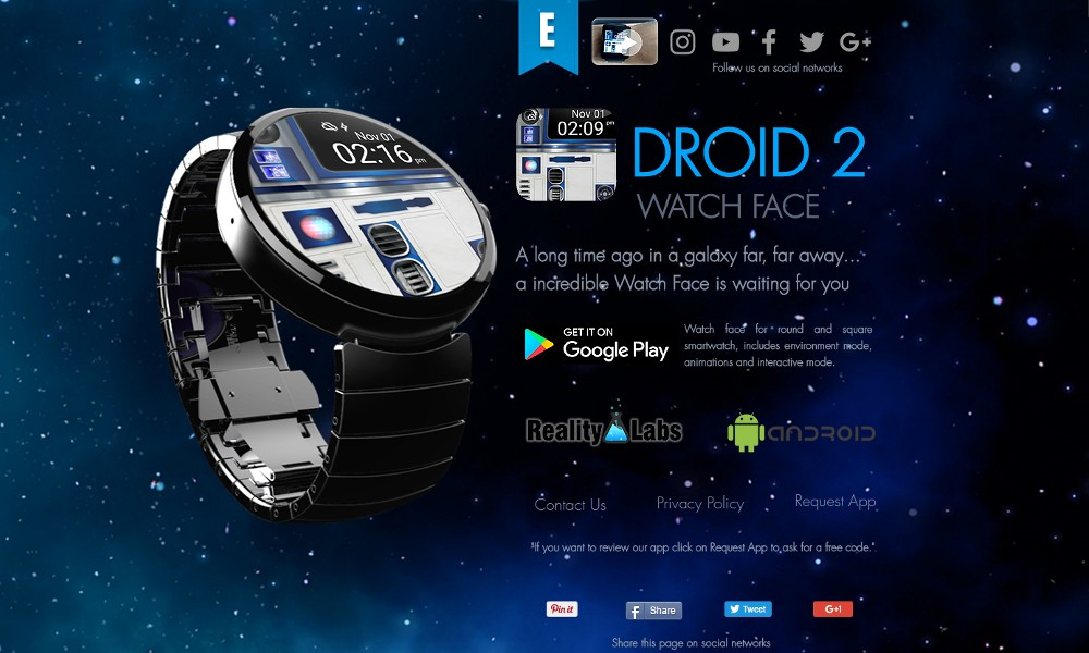 Droid 2 - Watch Face - Reality Labs
