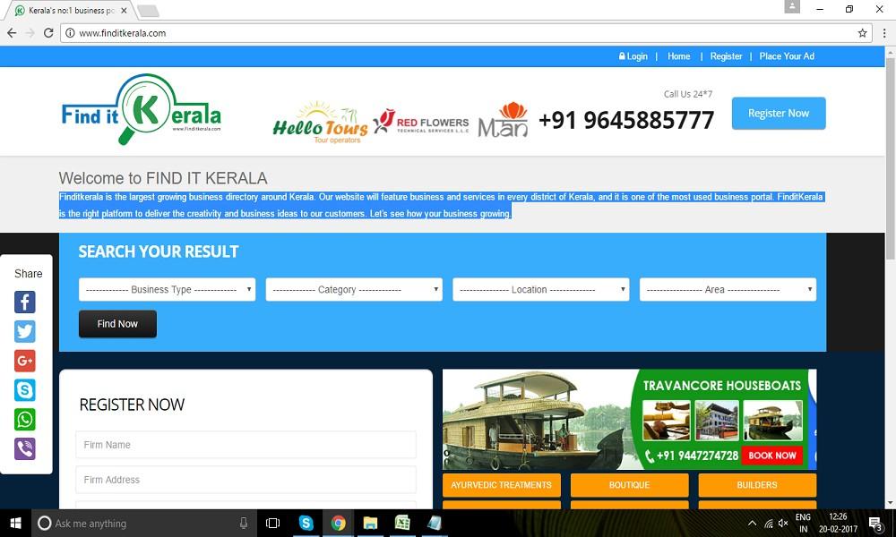 Find it kerala