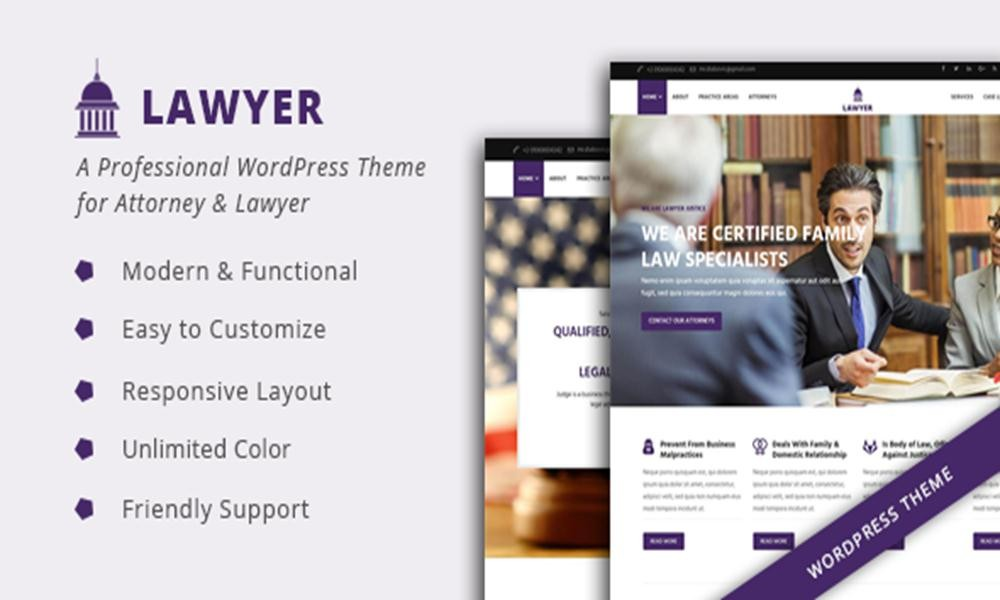 Lawyer - A Professional WordPress Theme for Attorney & Lawyer