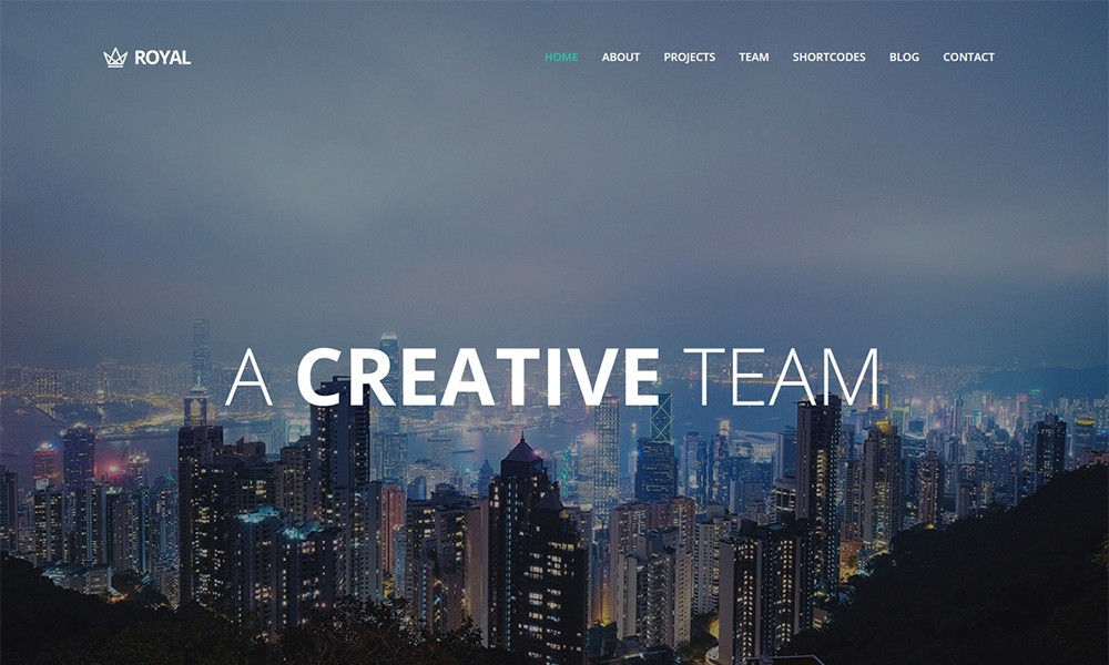 Royal - Responsive One Page Parallax WordPress Theme