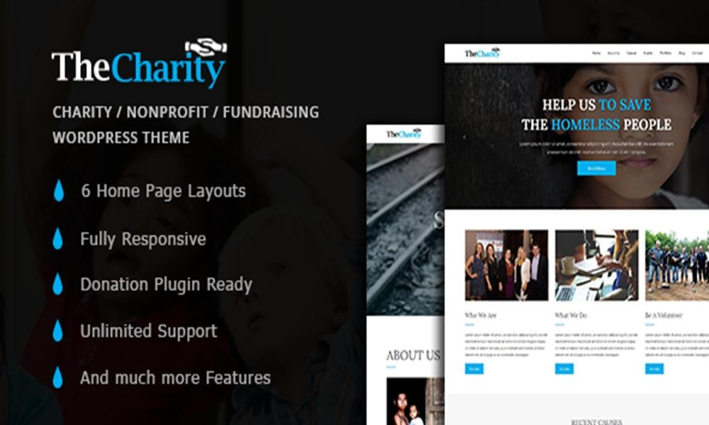 The Charity - Charity / Nonprofit / Fundraising WordPress Theme by zozothemes