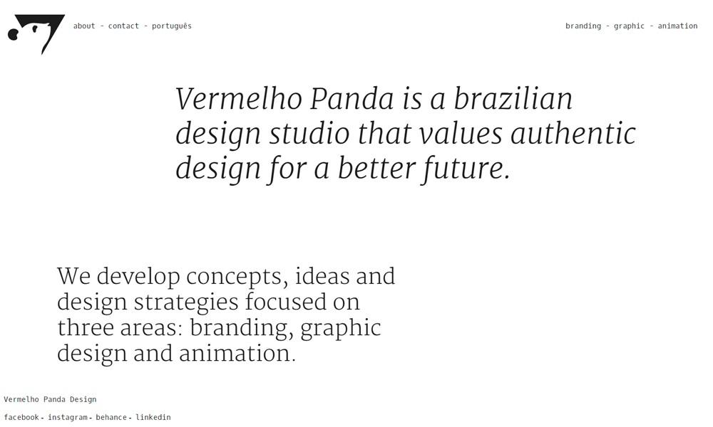 Vermelho Panda Design