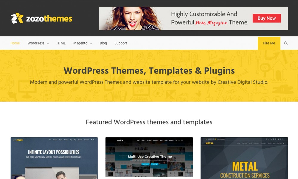 WordPress Themes, Boostrap Website Templates & Plugins - Zozothemes