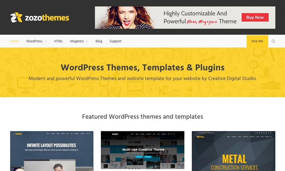 WordPress Themes, Boostrap Website Templates & Plugins - Zozothemes