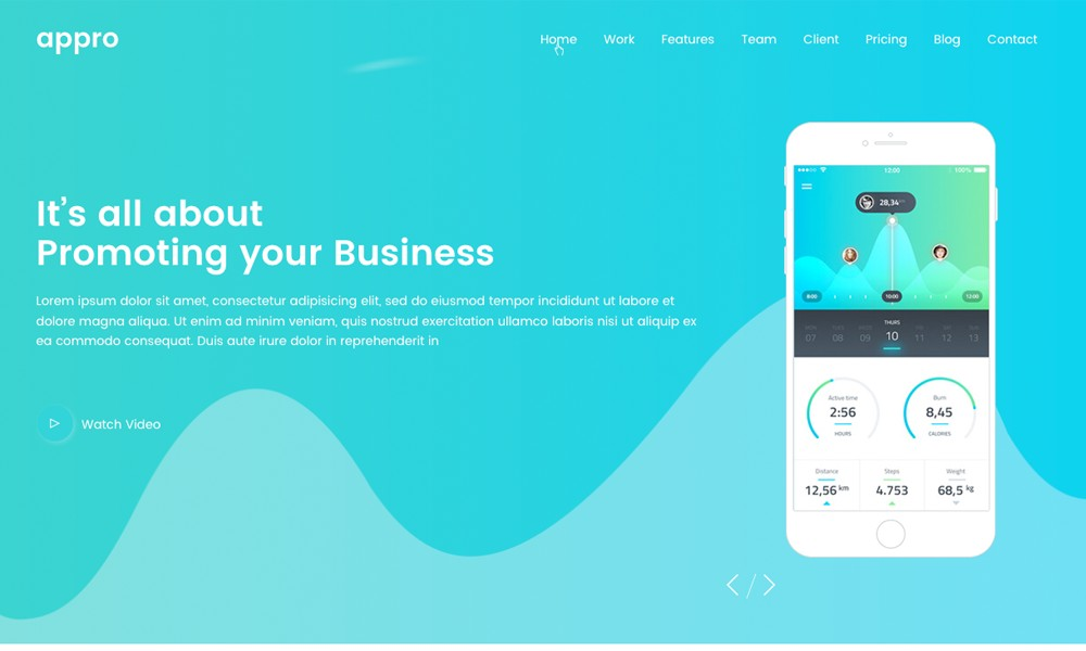 Appro App Landing Page