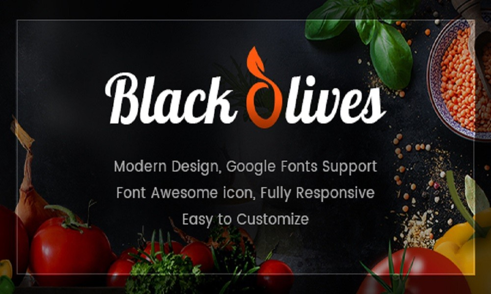 Blackolive – Restaurant One Page HTML