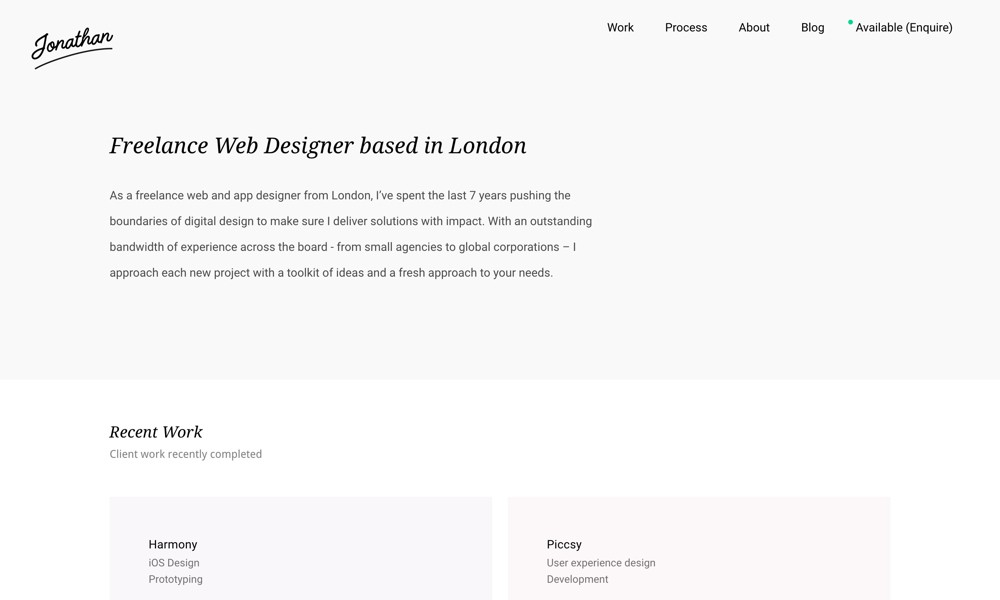 Jonathan Kelley - Freelance Web Designer