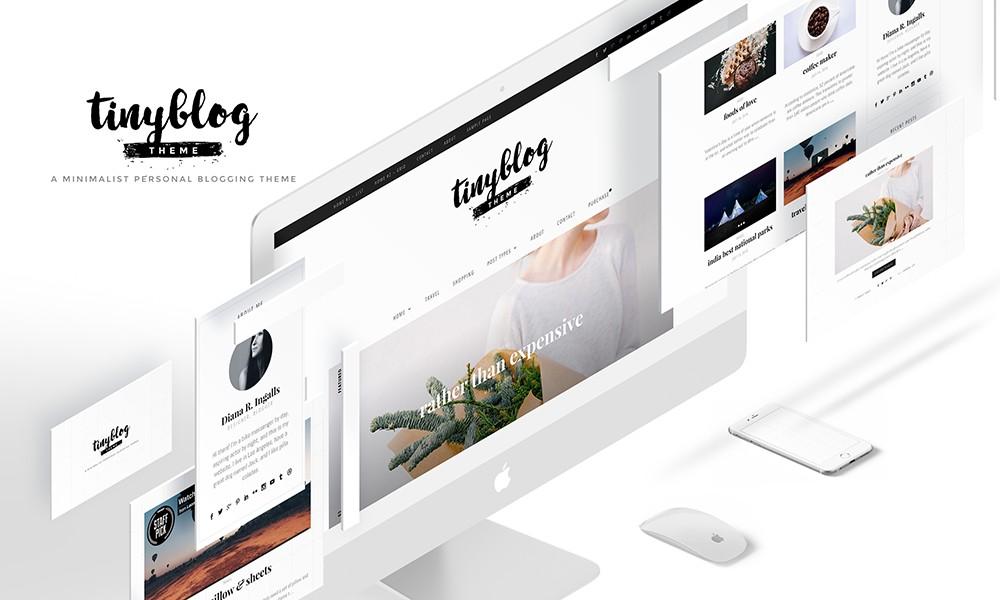 tinyblog - Minimalist personal blogging theme for Wordpress free