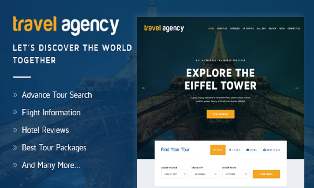 Travel Agency – Tours And Travels, Hotel Booking HTML Template